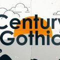 Century Gothic font