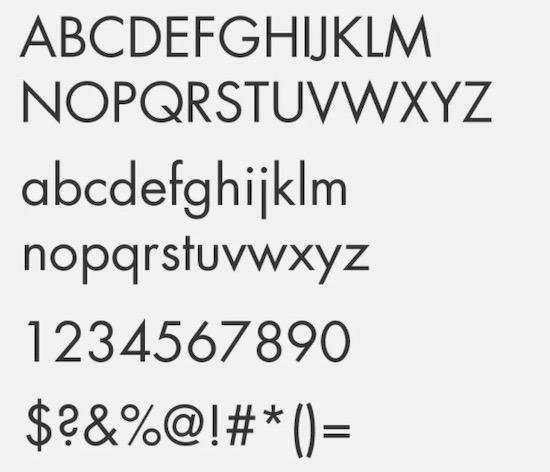 Futura Next font