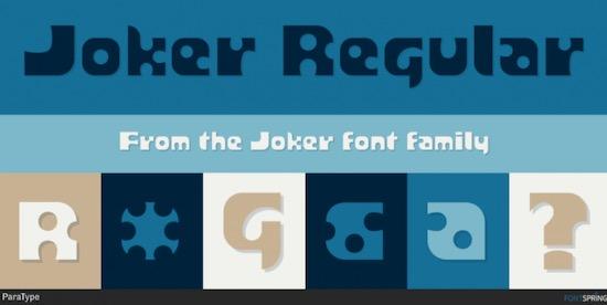 Joker font free
