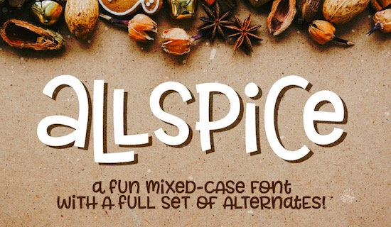 Allspice font free download