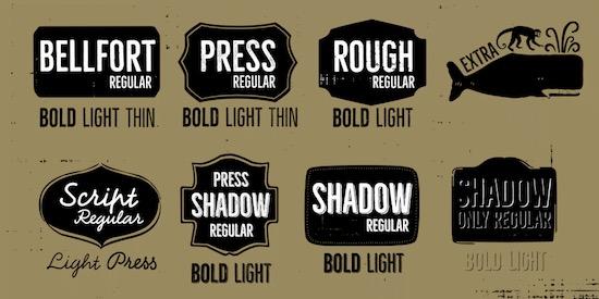 Bellfort font free
