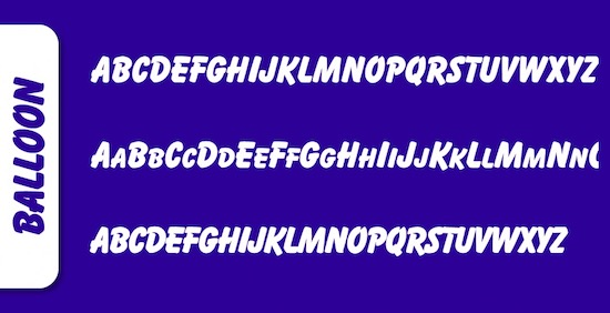 Balloon font free download