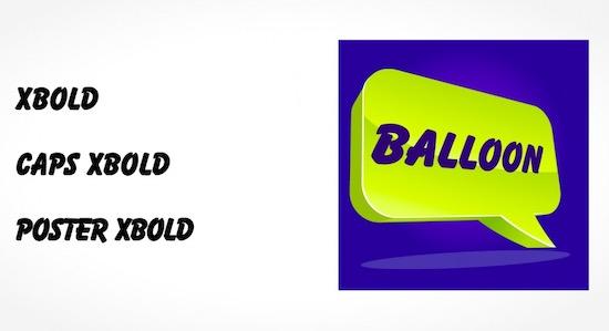 Balloon font free