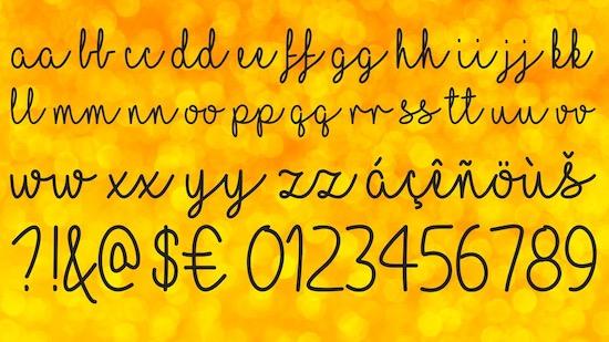 I Love Glitter font free