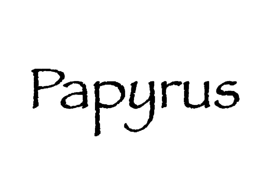 Papyrus font free