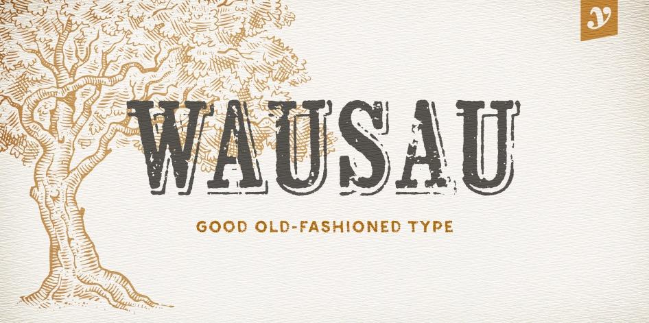 Wausau font free download